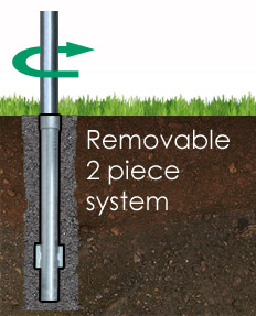 Removable linepost system